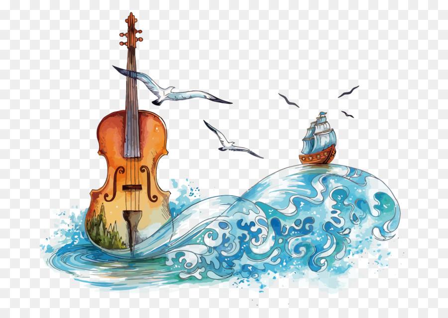 Violin Watercolor Painting DeviantArt