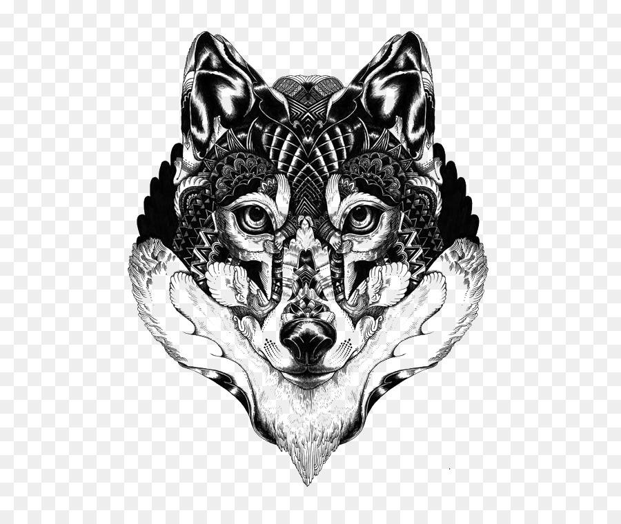 Lobo gris Mandala del Tatuaje del Dibujo Idea - Alaskan husky en ...
