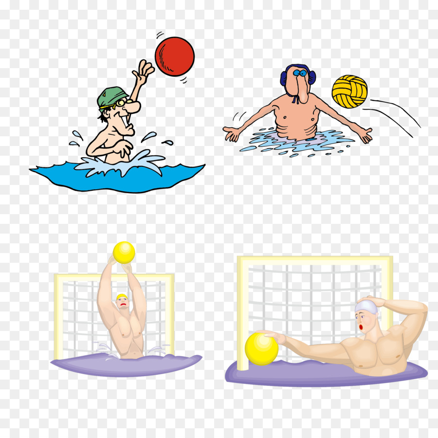 1b44fbf4a7d3c Euclidean vector Clip art - Water polo vector material Collection png  download - 2000 2000 - Free Transparent WATER POLO png Download.