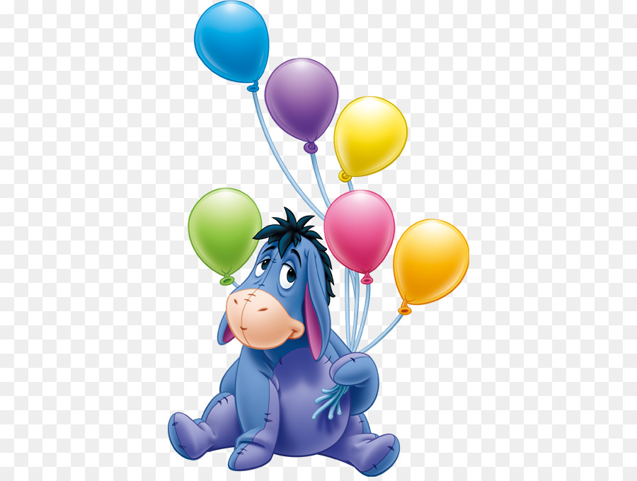 Eeyores Birthday Party Piglet Winnie The Pooh Hippo Png Download