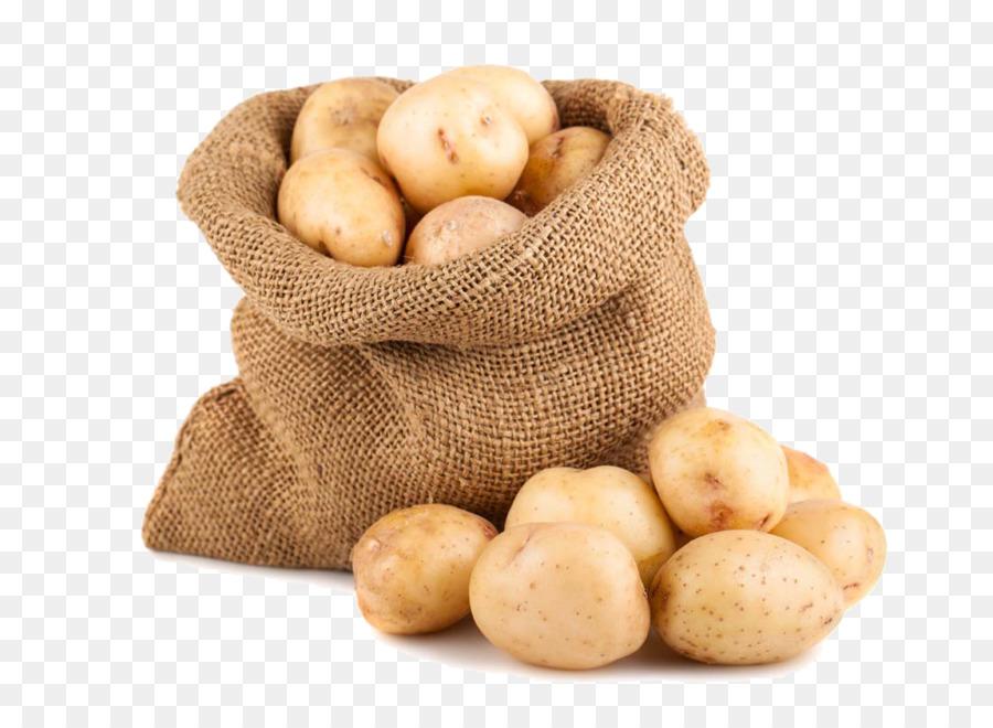 Potato French Fries Gunny Sack Food Stock Photography
