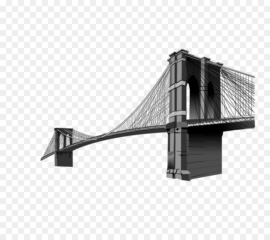 brooklyn bridge clip art sola bridge vector elements png download rh kisspng com Brooklyn Bridge Silhouette Brooklyn Bridge Vector