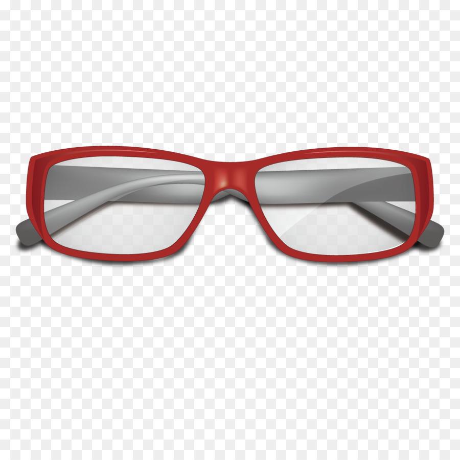 Gafas Gafas de sol Euclidiana del vector - Vector de marco rojo ...