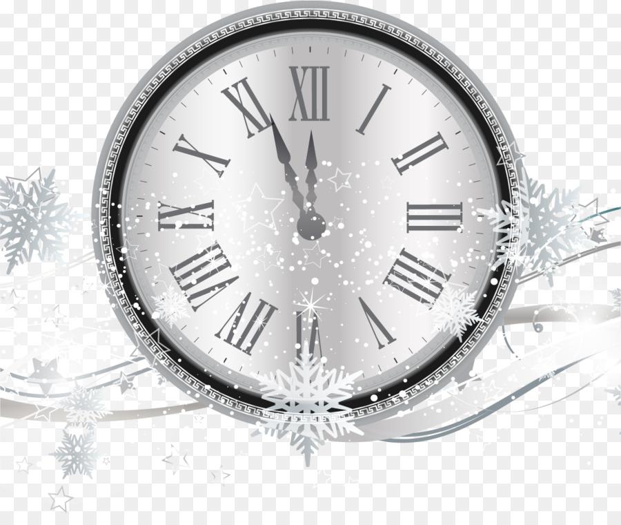 Countdown New Years Eve Clock - Silver Snowflake countdown clocks ...