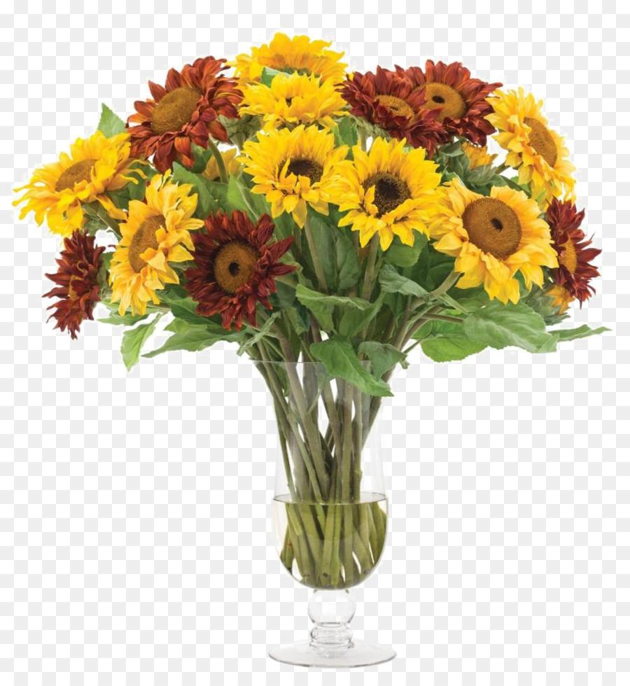 Common sunflower Floral design Flower bouquet Glass - Sunflower ...