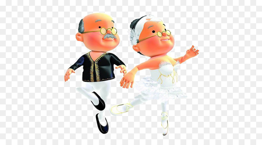 china child grandparent cartoon christmas classic songs dance ballet old man - Christmas Classic