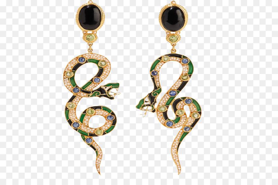 Earring Jewellery Designer Necklace Snake Earrings png download