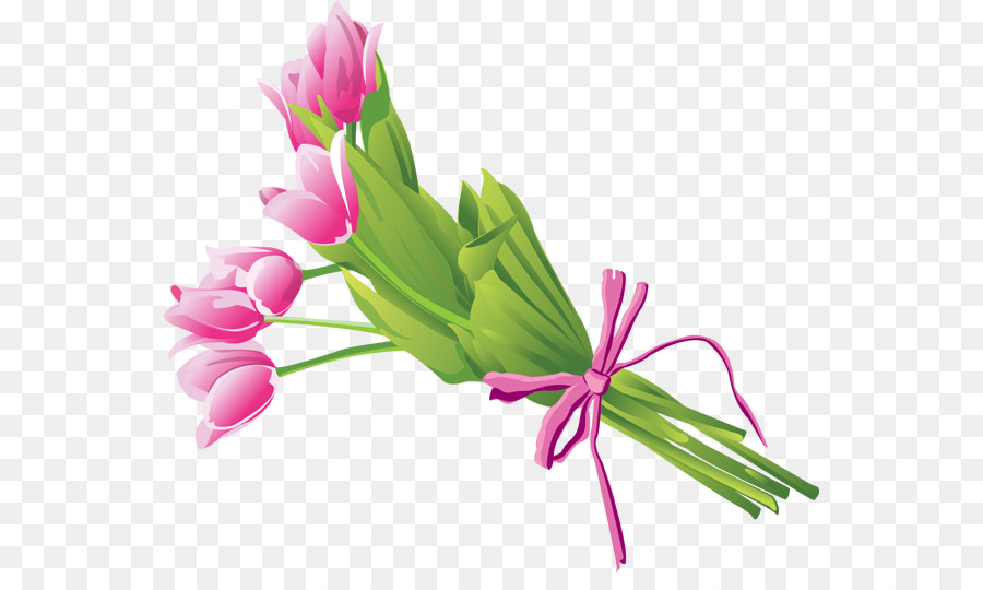 Flower bouquet Clip art - A bunch of tulips png download - 600*524 ...