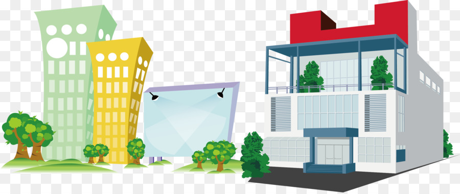 Cartoon Architecture Company Office Building Png Download 2761