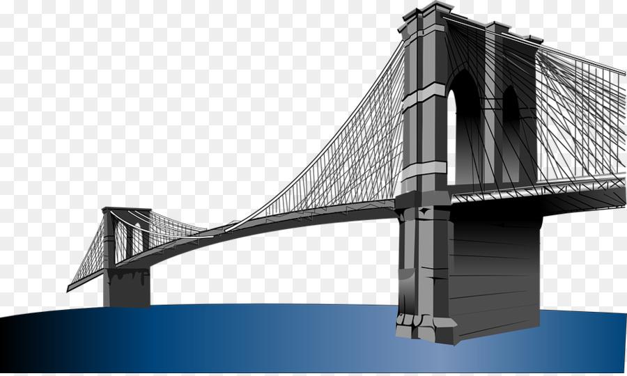 brooklyn bridge clip art flat bridge png download 960 572 free rh kisspng com Brooklyn Bridge Tattoo Brooklyn Bridge at Night