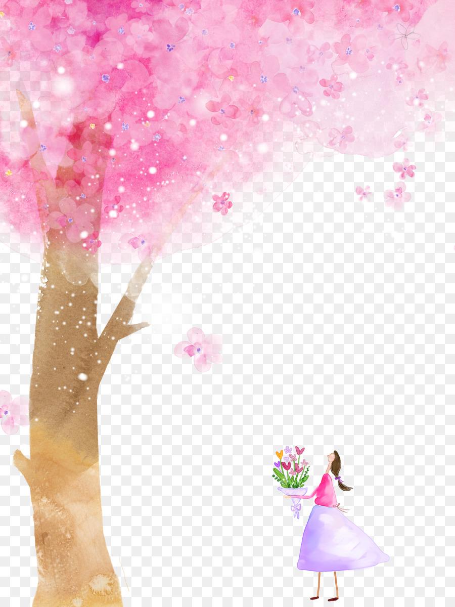 De Los Cerezos En Flor De Dibujos Animados De Flores Pétalo De La