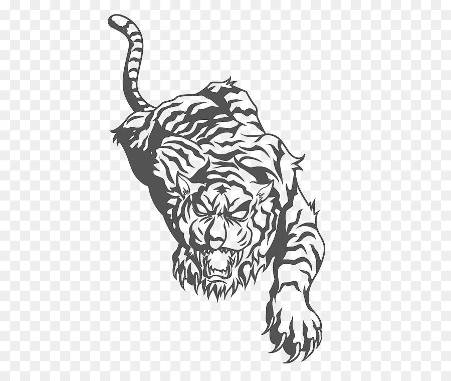 El tigre de la Manga del tatuaje de pantera Negra León - tigre png ...