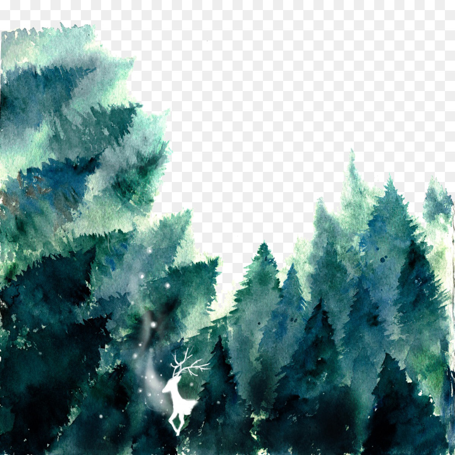 Forest Watercolor Painting If We Painted Forest Png