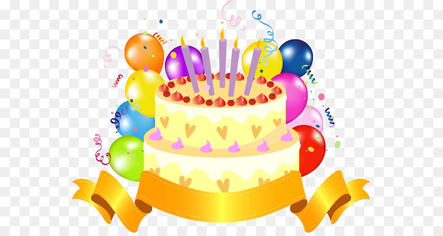 Birthday Cake Torta Clip Art Vector Golden Cake Png Download 607