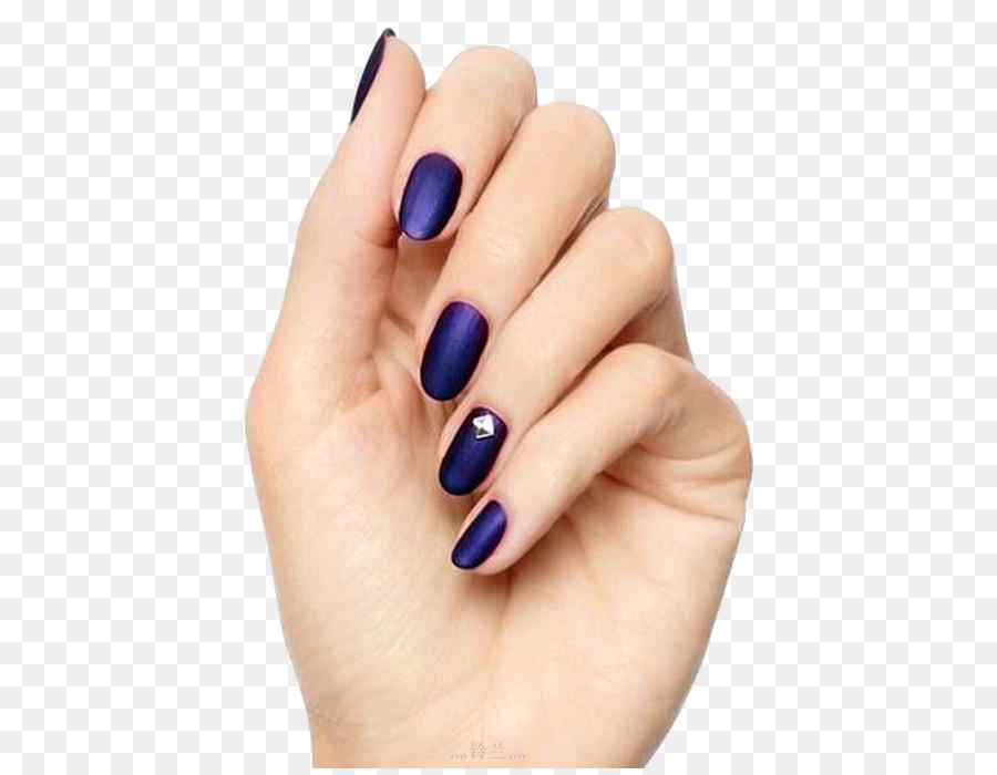 Nail art Nail polish Gel nails Manicure - Purple nail png download ...