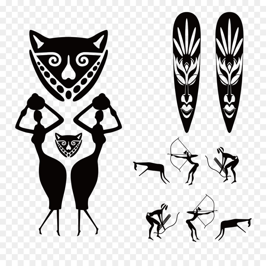 African art wall decal interior design services old african ethnic vector material