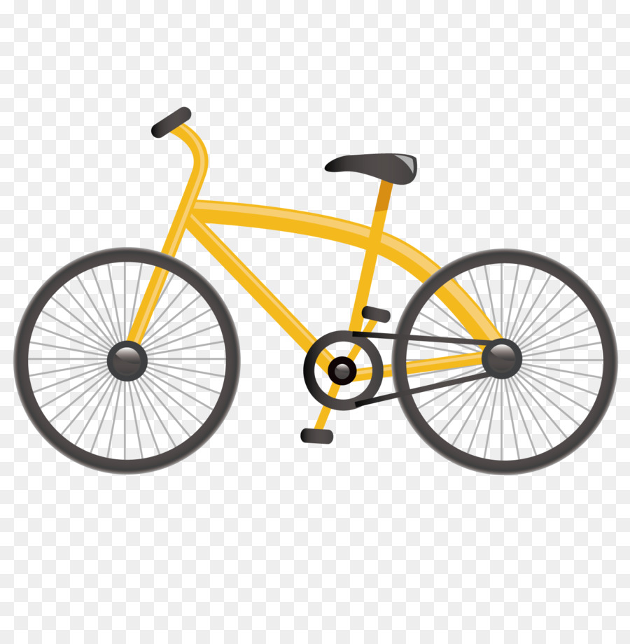 Bicycle Template - Yellow bike png download - 1500*1501 - Free ...
