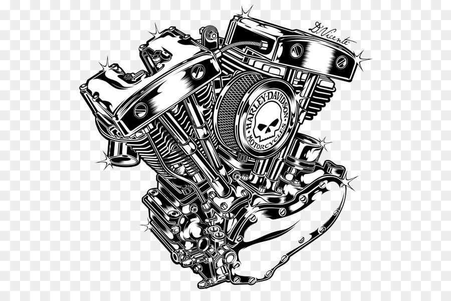 Motorcycle Engine V Twin Engine Harley Davidson Black