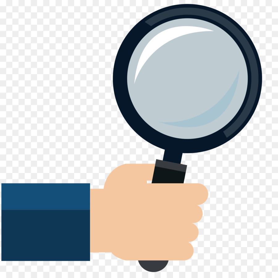 computer mouse magnifying glass hand icon flattened