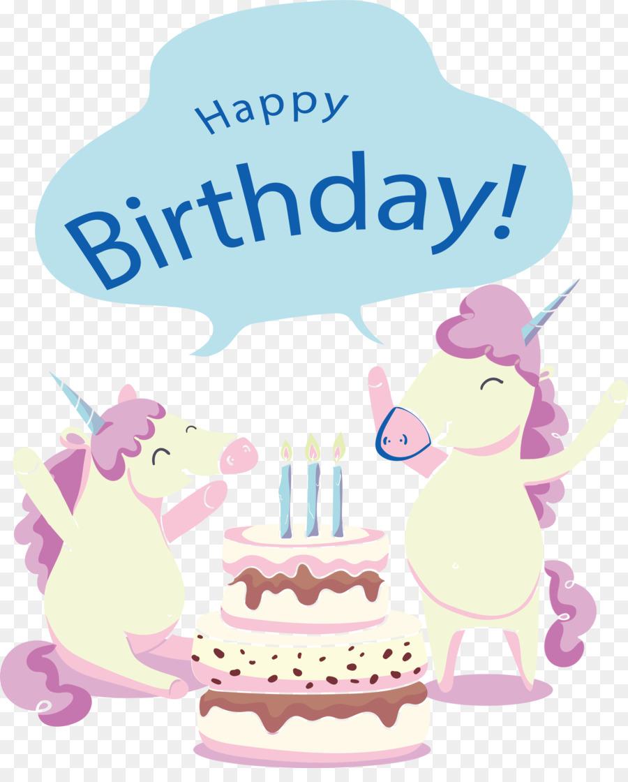 Birthday Party Greeting Card Clip Art Happy Birthday Unicorn Png
