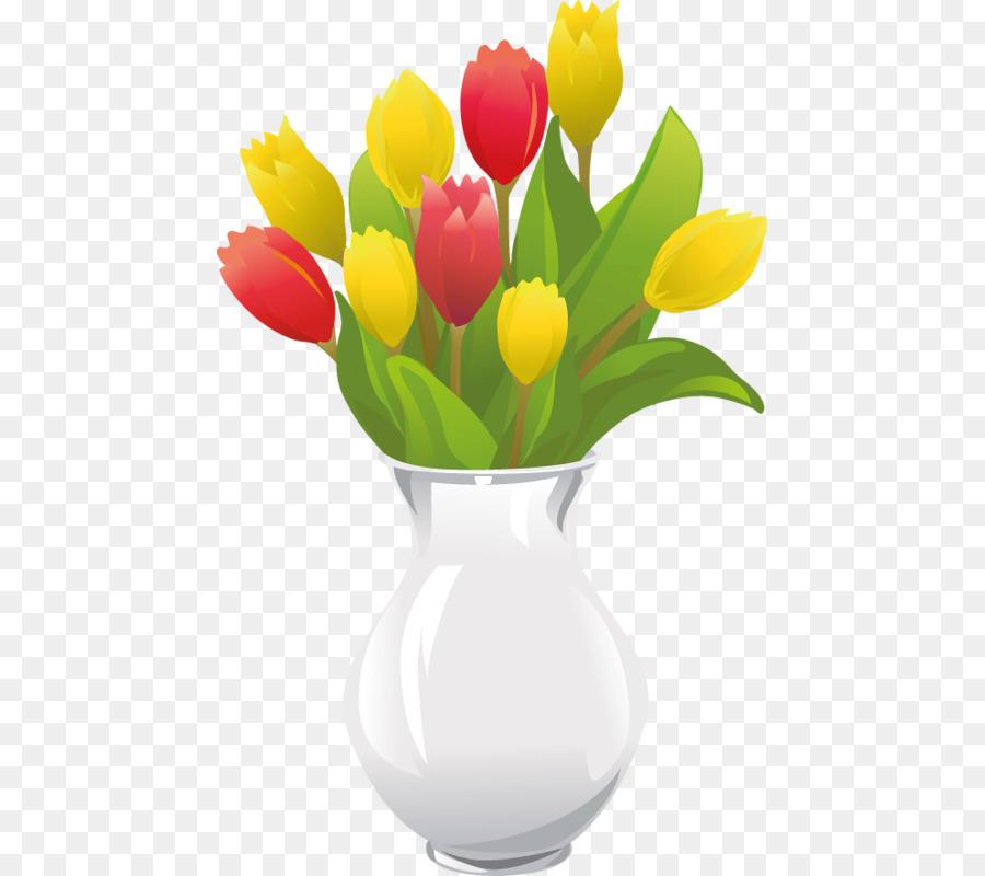Vase Flower Illustration Cartoon Tulip Png Download 503800