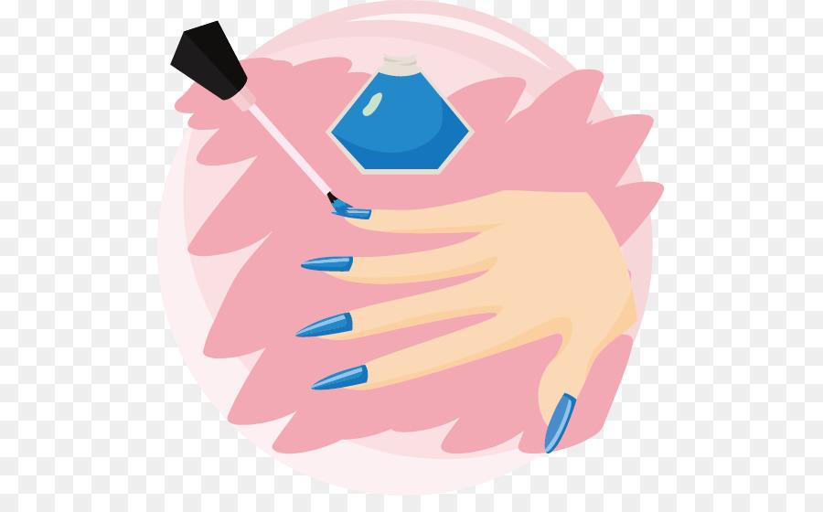 Nail polish Clip art - Vector blue nail polish png download - 555 ...