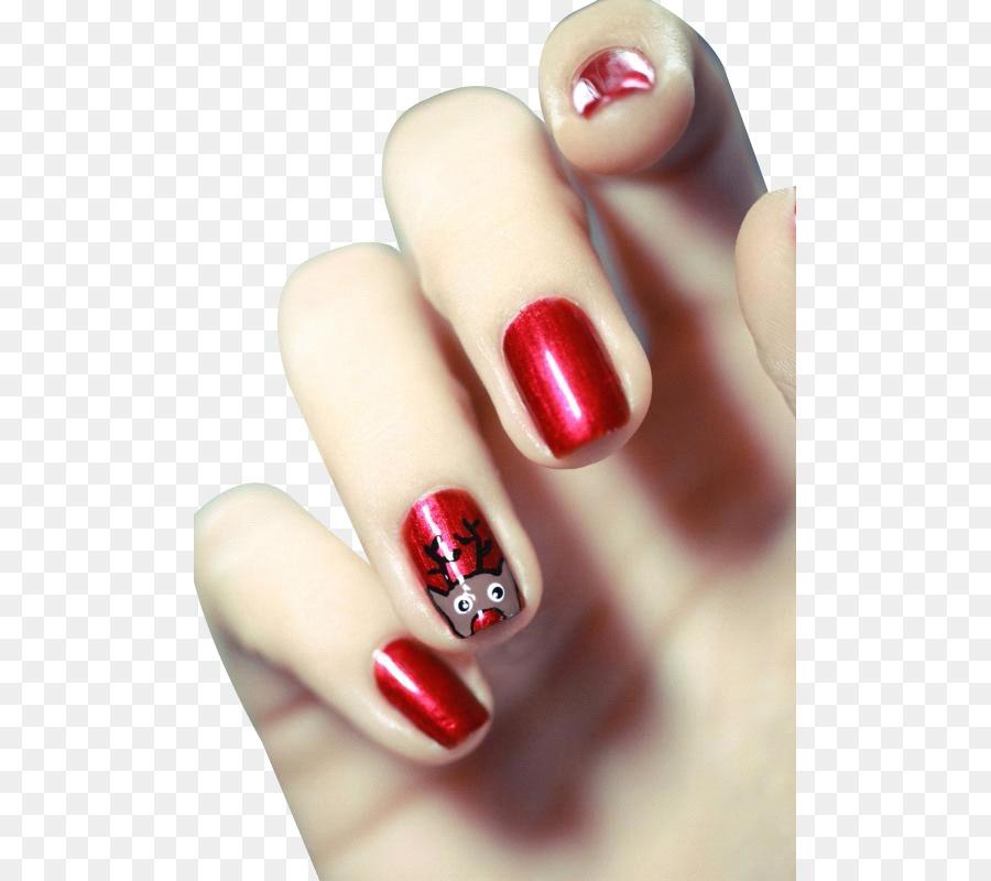 Christmas Nail Art Santa Claus Glitter Nail Works Png Download