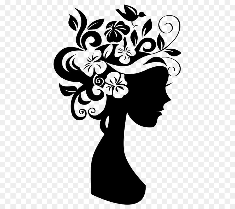 wall decal beauty parlour sticker pattern girls avatar png