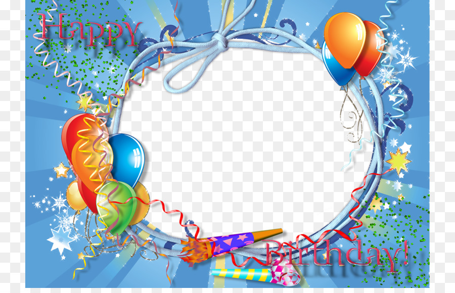 Happy Birthday to You Android Picture frame - Blue Frame png ...