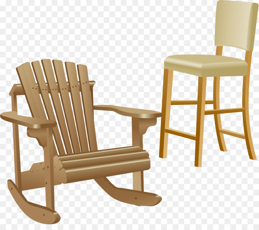 table furniture deckchair couch wood rocking chair png vector