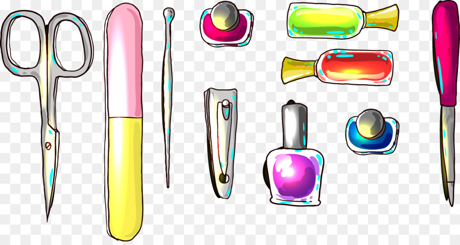 Manicure Nail art Icon - Vector nail tools png download - 1685*886 ...