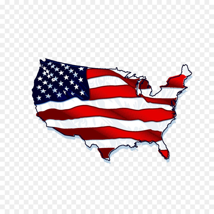 Flag of the United States Shape - American Flag Map png download ...