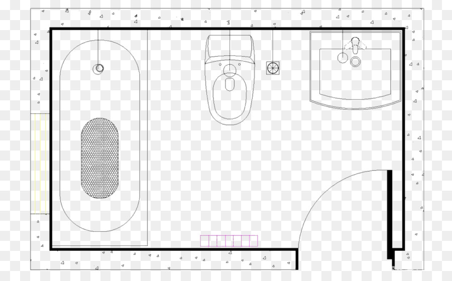 Brand Black and white Pattern - Toilet floor plan png download ...