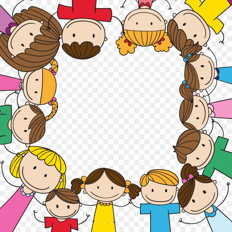 Child Play Clip art - Cartoon children holding hands ... (900 x 900 Pixel)