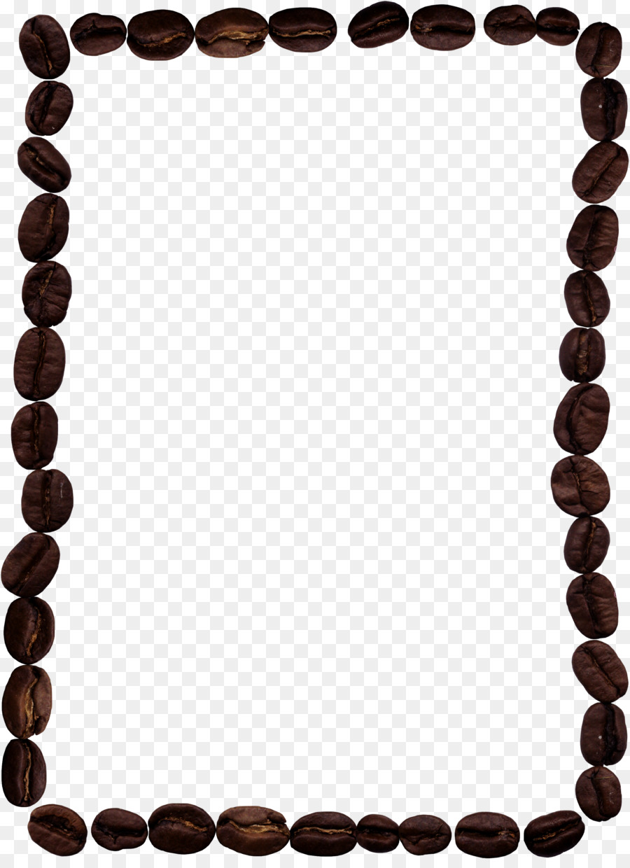 Iced coffee Cafe Picture frame Coffee bean - Coffee beans png ...