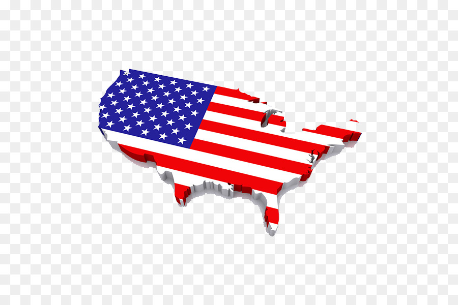 Flag Of The United States 3d Computer Graphics Map United States - Free-3d-us-map