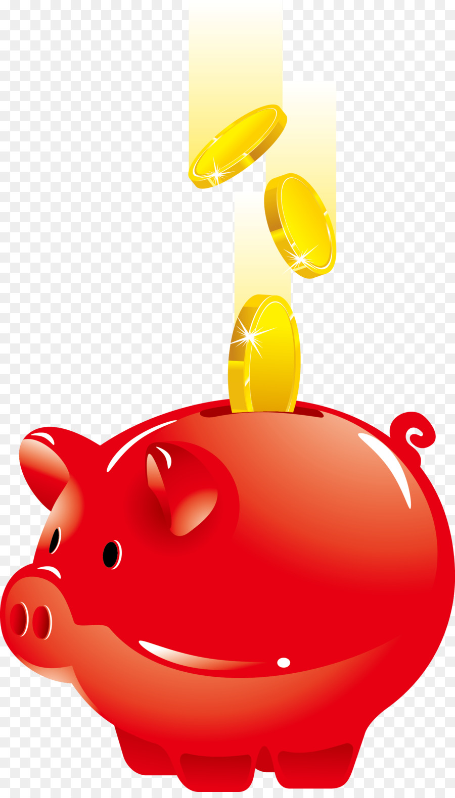 Piggy Bank Saving Money Vector Red Piggy Bank Png Download  Free Transparent Pig