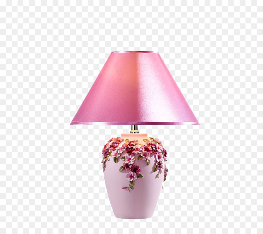 Table Nightstand Lampe De Bureau Light Fixture Pink Table Lamp Png