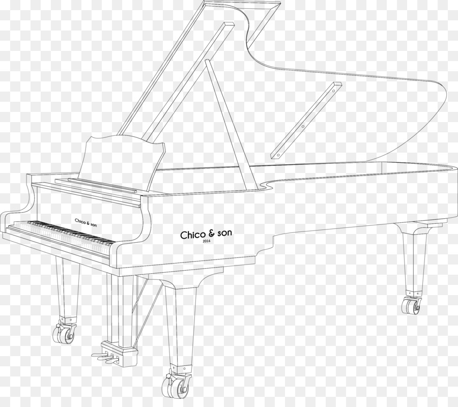 Structure White Black Pattern - Vector piano png download - 2148 ...