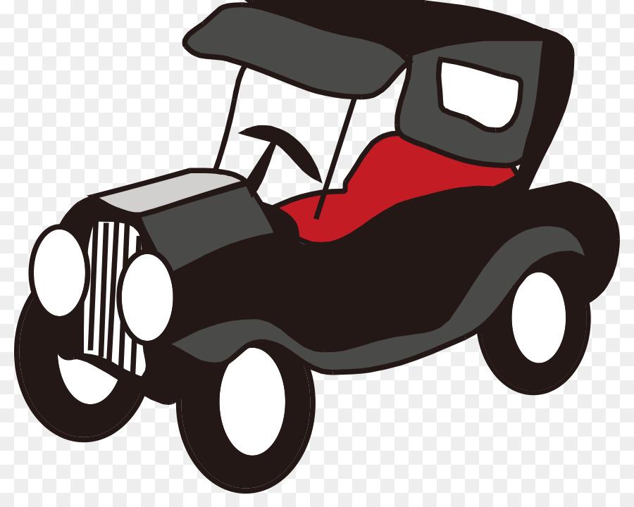 vintage carro carro clássico desenho animado simples pintadas a