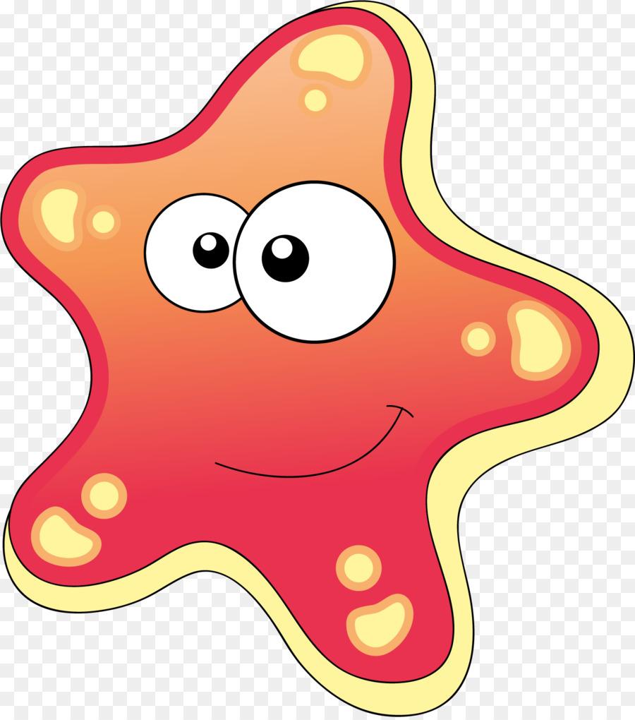 Cartoon Starfish Drawing Clip art - Hand painted red starfish png ...