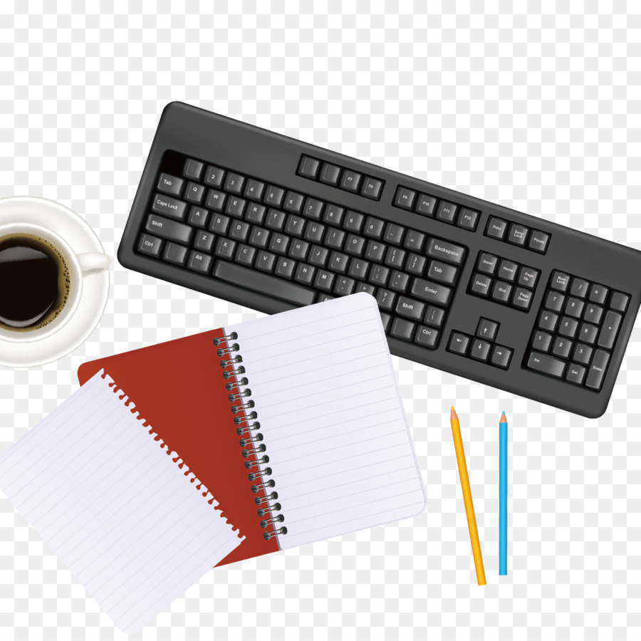 Elegant Computer Mouse Vector Png   Office Supplies 3d Computer Graphics Notebook Vector Keyboard Png