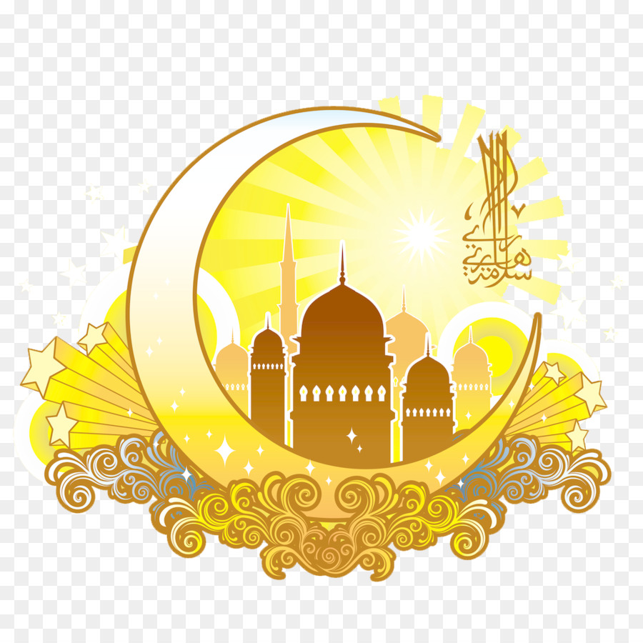 Eid al fitr eid mubarak ramadan greeting card muslim yellow moon eid al fitr eid mubarak ramadan greeting card muslim yellow moon shaped islamic religious designs m4hsunfo