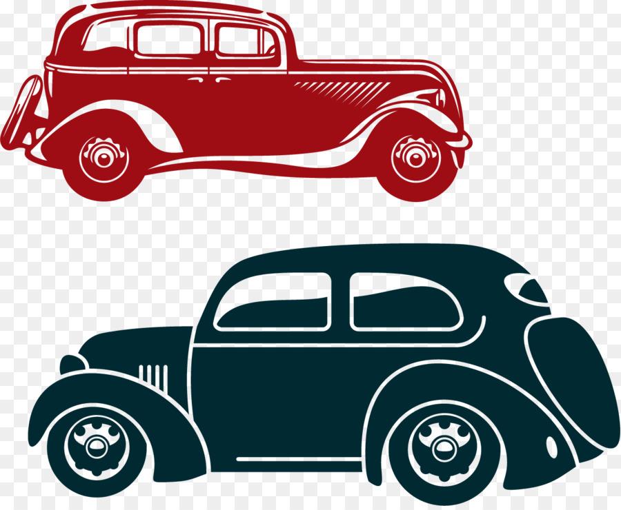 cartoon classic cars posters png vector elements