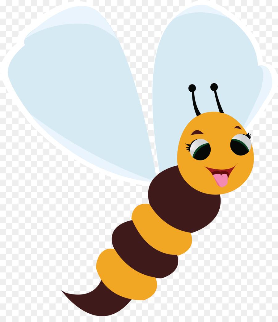 Madu Lebah Kartun Vektor Euclidean Kartun Lebah Terbang Vektor
