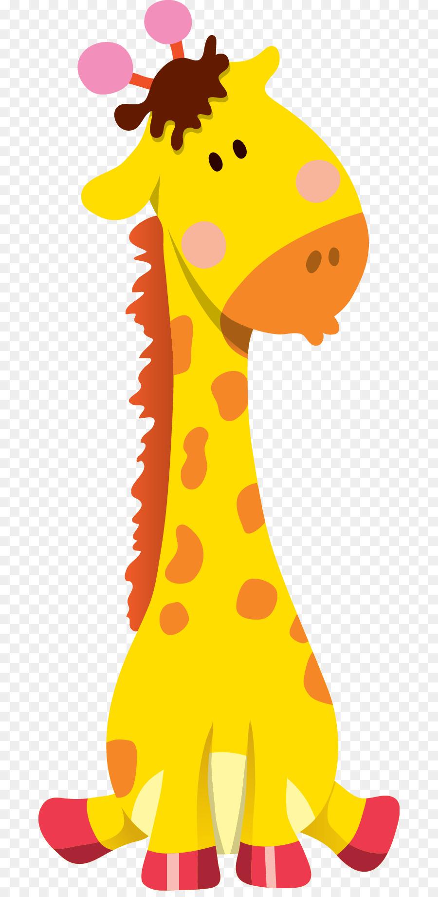 Jerapah Kartun Hewan Ilustrasi Jerapah Unduh Giraffidae Seni
