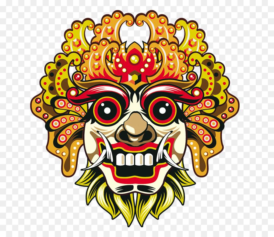Bali Barong Mask Euclidean Vector Chiefs Face Png Download 737