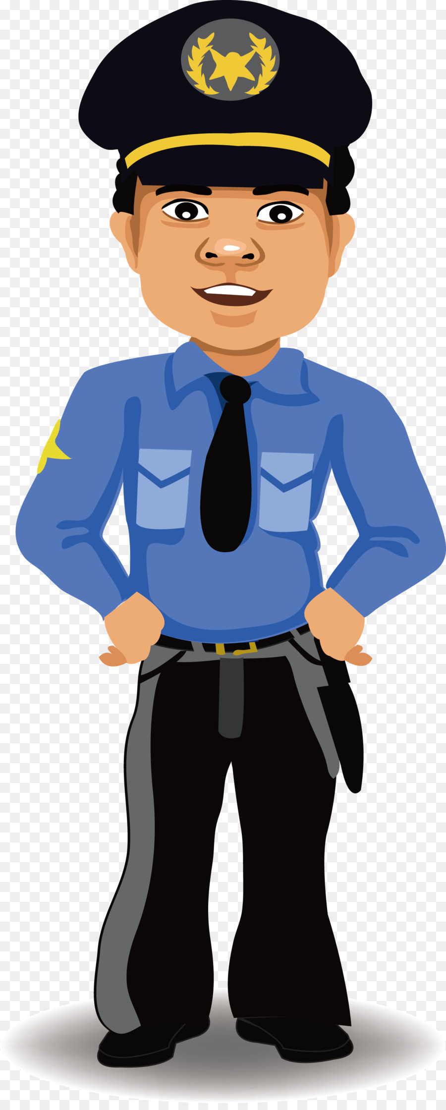 Police officer Cartoon Security - People's Police Vector ...