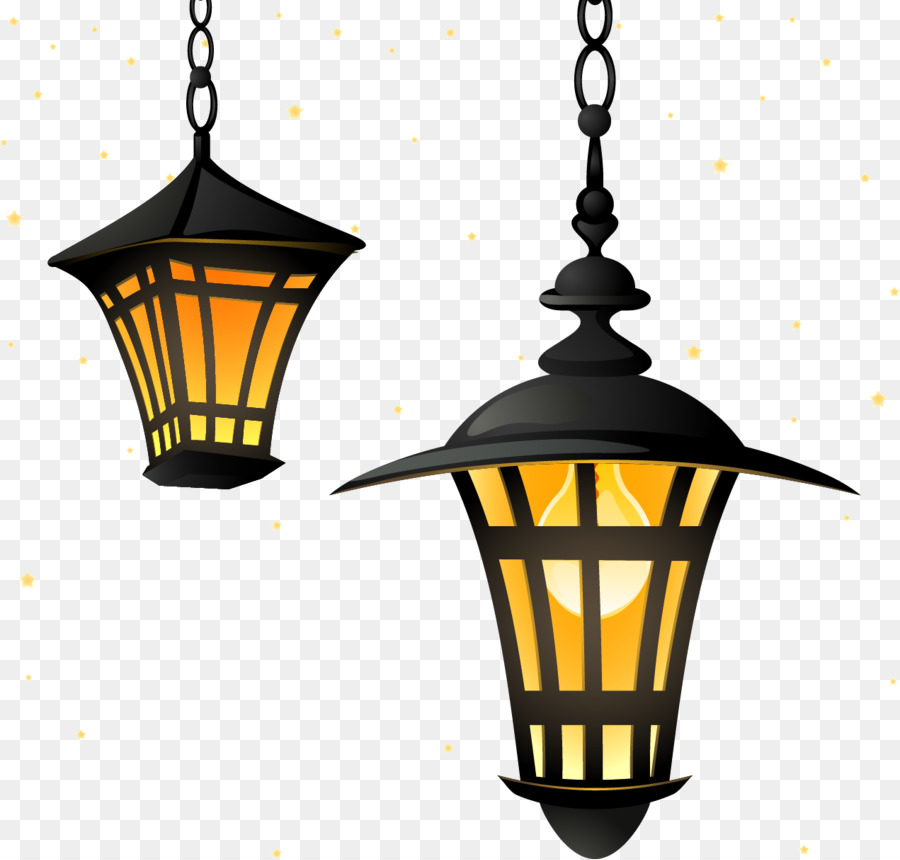 Street Light Lantern Lighting Cartoon Painted Lamp Png 1271 1213 Free Transpa
