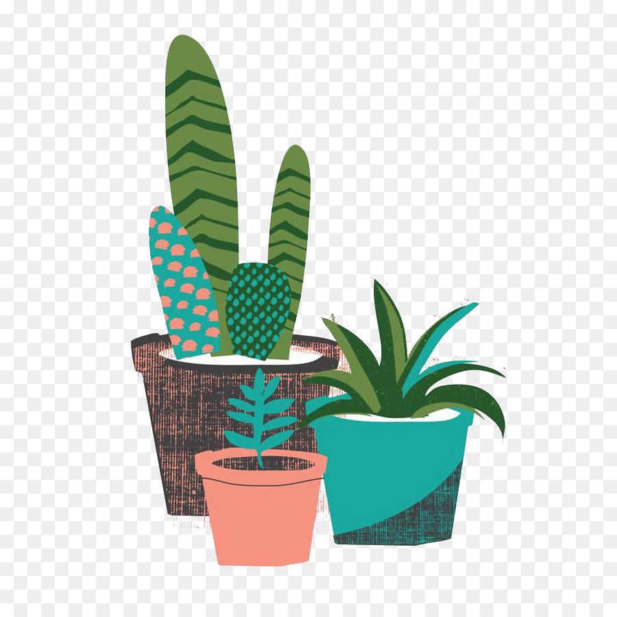 The Cactus Garden Cactaceae Succulent Plant Desert   Cartoon Cactus